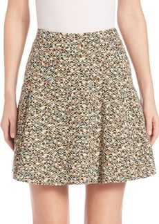 Akris punto Static Tweed Flounce Skirt