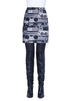 Akris punto Stereo Jacquard Miniskirt