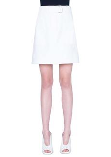 Akris punto Stretch Cotton Cargo Skirt