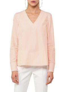 Akris punto Stripe A-Line Cotton Blouse