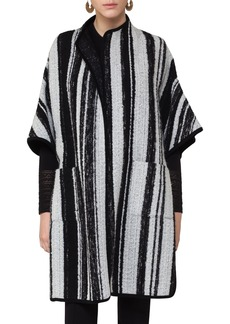 Akris punto Stripe Cape Topper