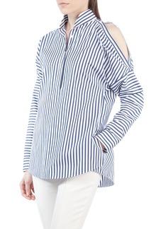 Akris punto Stripe Cold Shoulder Blouse