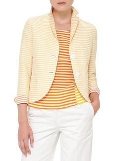 Akris punto Stripe Cotton & Linen Jacket