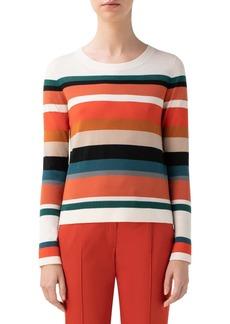 Akris punto Stripe Merino Wool Sweater