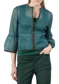 Akris punto Stripe Mesh Jacket