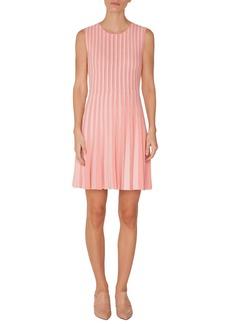 Akris punto Stripe Pleated Dress