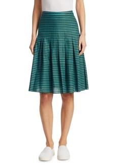 Akris Punto Striped Bell Skirt