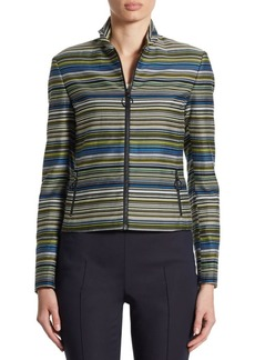 Akris punto Striped Cropped Jacket