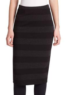 Akris punto Striped Jersey Midi Skirt