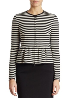 Akris punto Striped Peplum Jacket