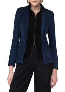Akris punto Suede Blazer with Removable Wool Vest