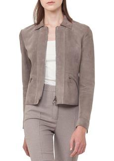 Akris punto Suede Zip-Front Jacket