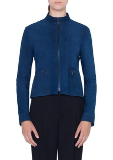 Akris punto Suede Zip Jacket