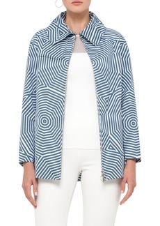 Akris punto Sunshade Print Cotton Coat