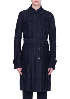 Akris punto Superose Dégradé Dot Trench Coat