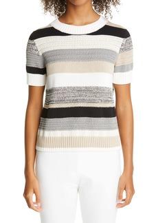 Akris punto Tabelle Stripe Sweater