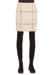 Akris punto Textured Check Short Pencil Skirt