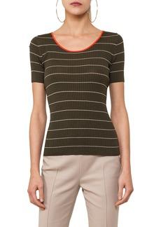 Akris punto Tricolor Stripe Knit Tee