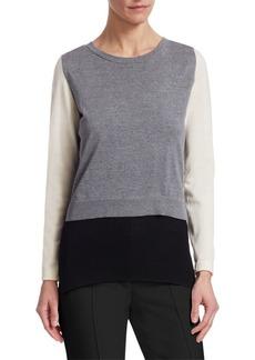 Akris Punto Trompe L'Oeil Colorblock Sweater