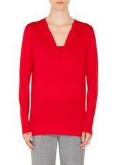 Akris punto Trompe l'Oeil Wool Sweater