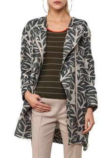 Akris punto Tropical Leaf Jacquard Coat