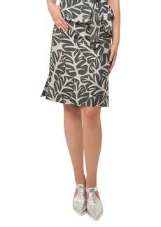 Akris punto Tropical Leaf-Print Skirt