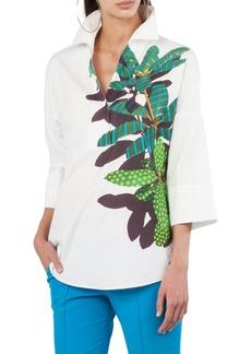 Akris punto Tropical Print Kimono Blouse