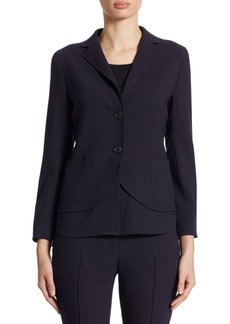 Akris punto Tropical Wool-Blend Removable Hem Jacket