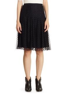 Akris Punto Tulle Velvet Dot Skirt