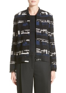 Akris punto Tweed Bomber Jacket