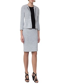 Akris punto Tweed Peplum Jacket