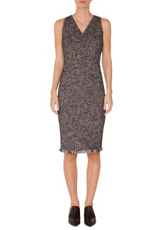 Akris punto Tweed Sheath Dress