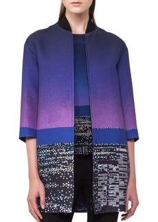 Akris punto Twilight City Bomber Coat