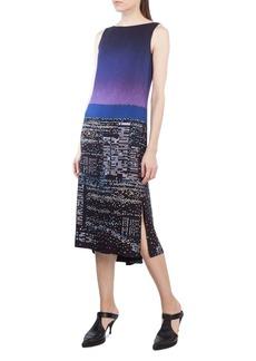 Akris punto Twilight Print Midi Dress
