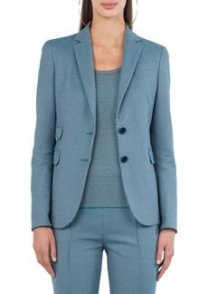 Akris punto Two-Button Cotton-Stretch Jacquard Blazer
