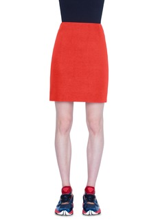 Akris punto Two-Tone Jersey Miniskirt