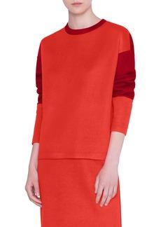 Akris punto Two-Tone Jersey Sweatshirt