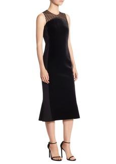 Akris Velvet Polka Dot Dress