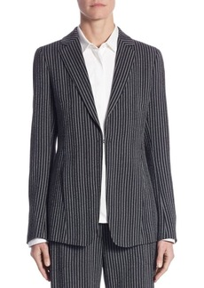 Akris punto Vertical Striped Blazer