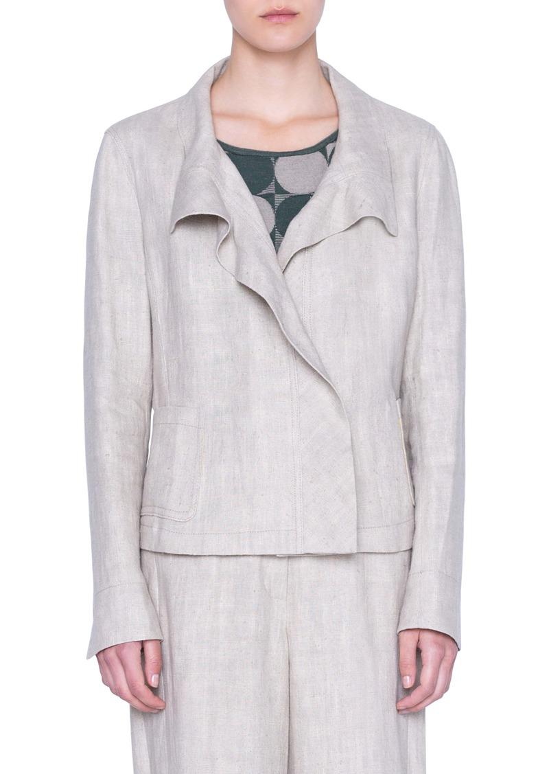 Akris punto Washed Linen Jacket