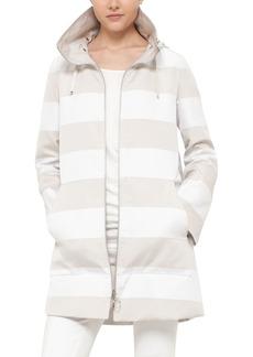 Akris punto Water Resistant Stripe Reversible Coat