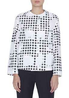 Akris punto Window Dot Crewneck Jacket
