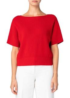 Akris punto Wool & Cashmere Short Sleeve Sweater