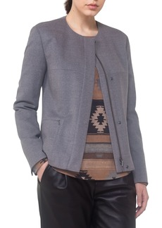 Akris punto Wool A-Line Jacket