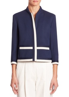 Akris punto Wool Contrast Trim Jacket