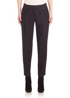 Akris punto Wool Fold-over Pleat Pants