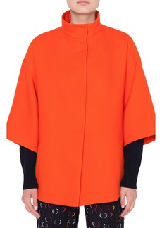 Akris punto Wool Gabardine Coat