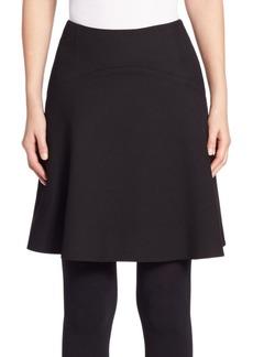 Akris punto Wool Gabardine Flounce Skirt