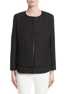 Akris punto Wool Jacket with Detachable Hem