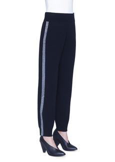 Akris punto Wool Tuxedo-Striped Ankle Pants